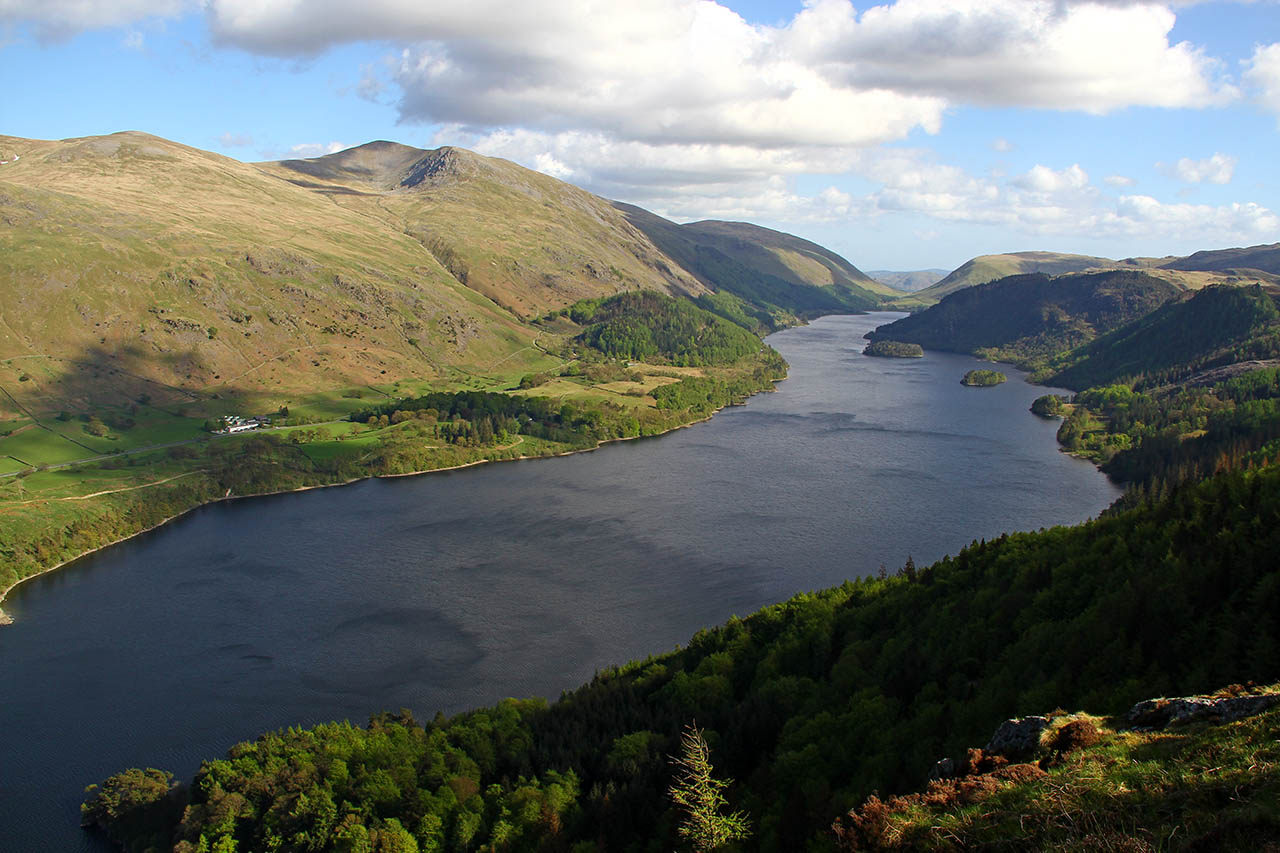 The lake district and yorkshire dales